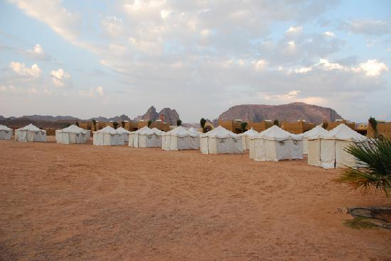 Bait Ali: Row of tents in the camp.