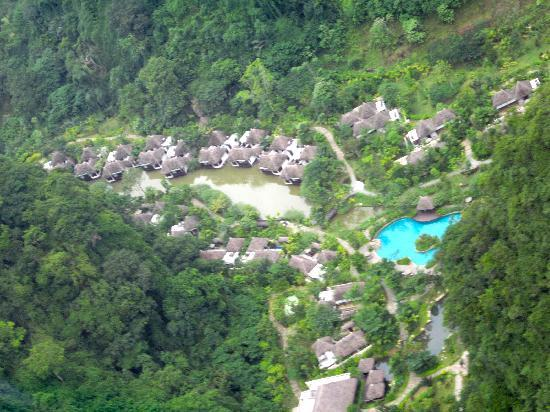 The Banjaran Hotsprings Retreat: a view from above