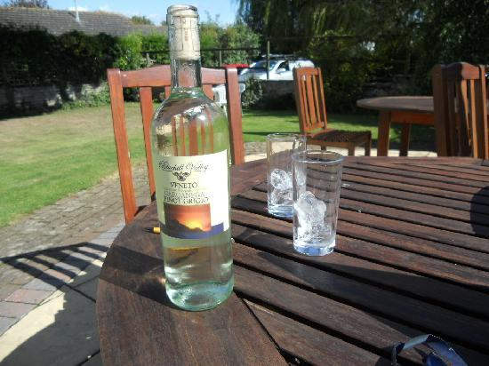 Colyton Holiday Cottages - White Cottage: nice garden to have a wine in ;)