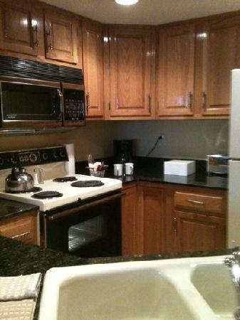 Bellaire, MI: kitchenette. room #362