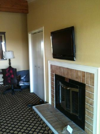 Shanty Creek Resorts - Summit Village: fireplace and tv. room #362