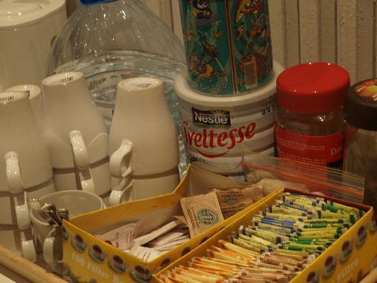 ホステル ゴヤ, コーヒーや紅茶はセルフで