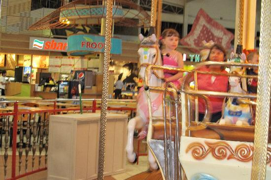 Grapevine Mills : merry go round in mall
