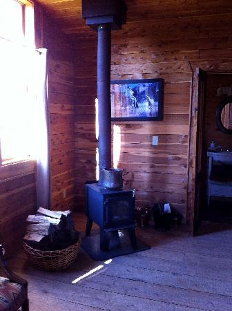 Seventy-four Ranch: Wood burning Stove