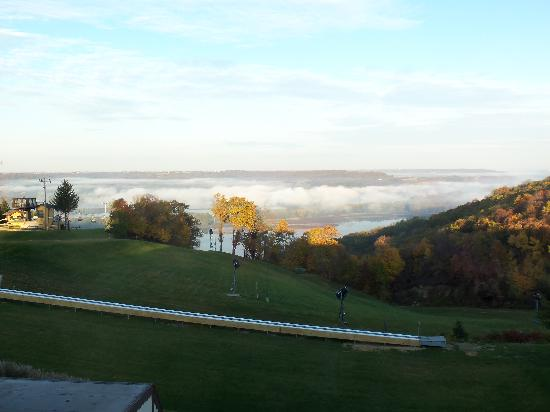 Chestnut Mountain Resort: View from our room on a warm morning.