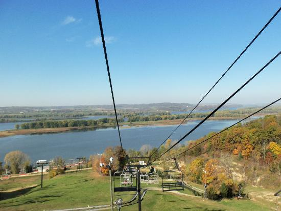 Chestnut Mountain Resort: View from the ski lift ride down.