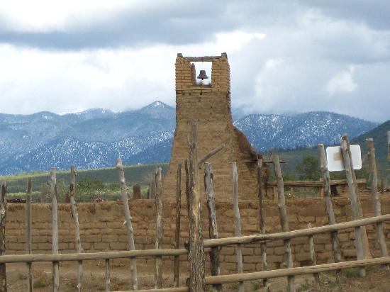 Taos Pueblo: Bell tower from the old pueblo church