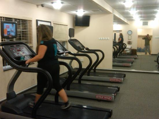 Staybridge Suites Royersford-Valley Forge: My daughter in the gym at midnight