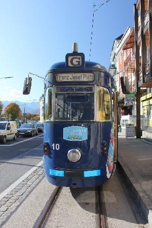 Historische Strassenbahn Gmunden: Endhaltestelle Franz-Josef-Platz
