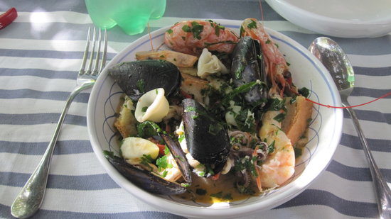 The Awaiting Table Cookery School in Lecce, Italy: a delicious lunch of seafood soup