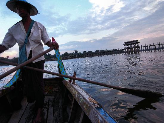Amarapura, Myanmar: from the boat