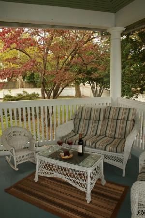 Relax on the large wrap-around porch, Fig Street Inn, Cape Charles, VA