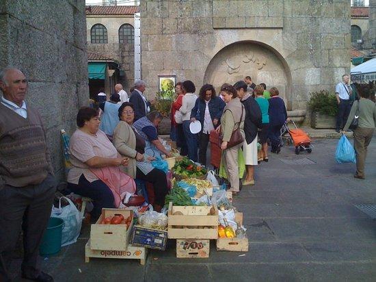 Santiago de Compostela, Spain: market day Santiago