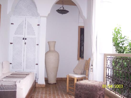 Riad les Orangers d'Alilia Marrakech : this is the balcony in front of our room