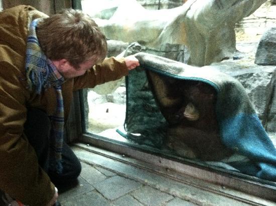 Erie Zoo: Fist bump!