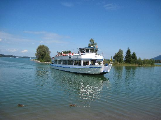 Bootfahrt auf dem Forggensee