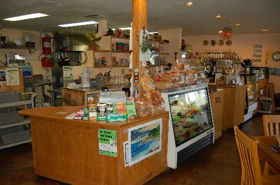 Nature's Corner Cafe and Market: Kitchen and Sales Counter