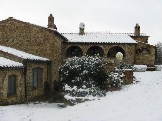 Agriturismo Aiole: neve ad Aiole
