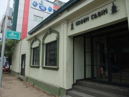 Out side the Green Cabin..453 Galle Road Colombo 3