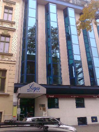 The Front of the Logos Hotel