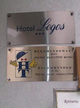 Logos Hotel : The 3 star signage at the front of the Hotel