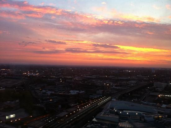 Staying Cool at the Rotunda: the sunrise over Birmingham. view from room 1903