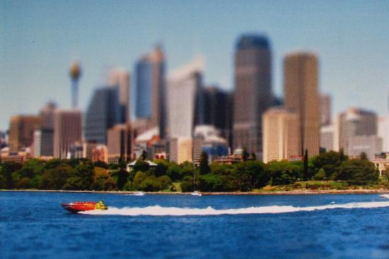 Oz Jet Boating Sydney Harbour: Phot taken from Manly ferry