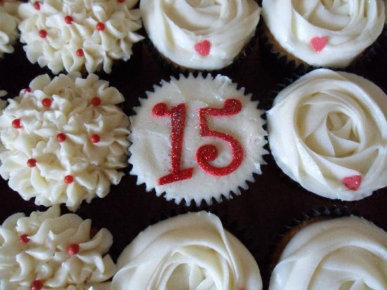 The Cupcake Sanctuary: Our 15th anniversary Cupcakes