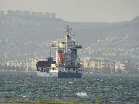 Izmir, Turkey: Tanker waiting to dock
