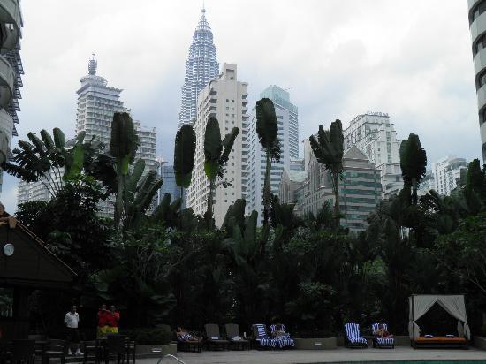 Shangri-La Hotel Kuala Lumpur: view from the pool