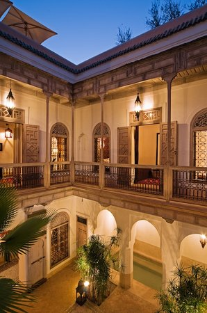 Riad Tzarra Courtyard at Dusk
