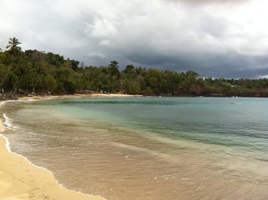 Sao Tome Island, Σάο Τομέ και Πρίνσιπε: Praia privada do hotel Club Santana