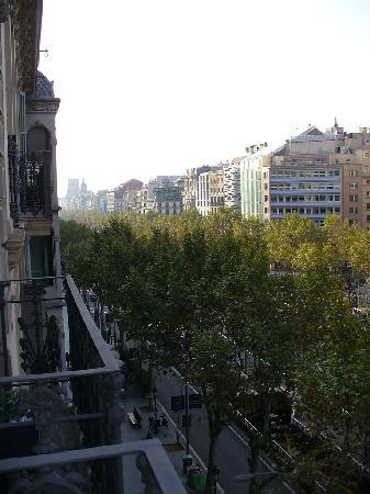 Passeig de Gracia, view from 5th floor balcony of Hotel Actual