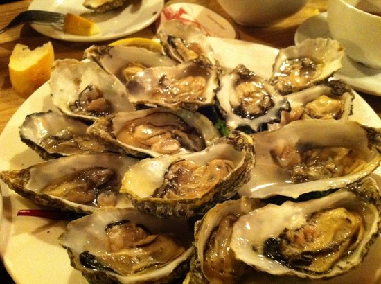 Ferry Boat Inn: The oysters...