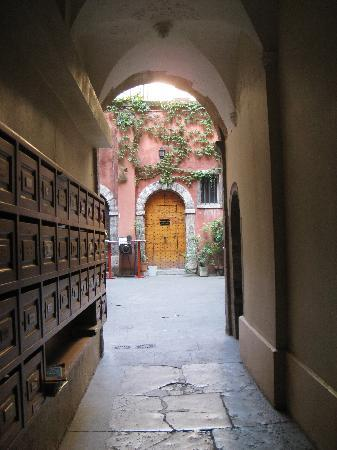 Entry to Artelit Courtyard