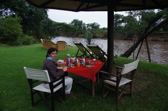 Cheetah Tented Camp: El desayuno
