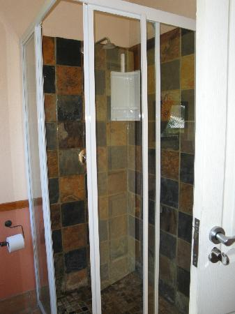Kiara Lodge: tiny shower in main bathroom