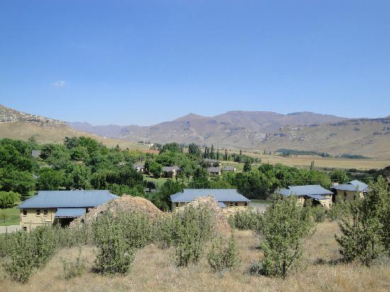Clarens, South Africa: view of chalets