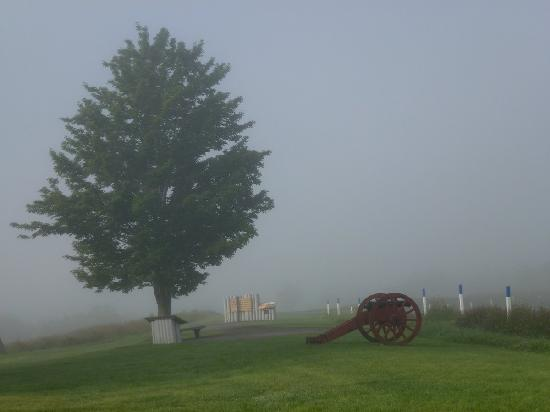 Saratoga National Historical Park in the early morning mist