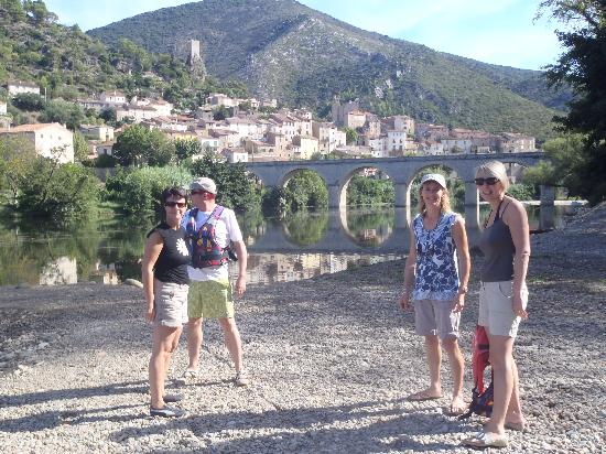 Maison Dix : Roquebrun - just about to hire the canoes