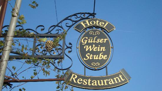 Hotel Gülser Weinstube: the sign
