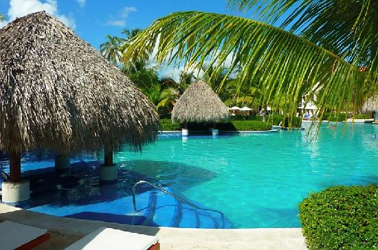 Dreams Palm Beach Punta Cana : shady spots in the pool area