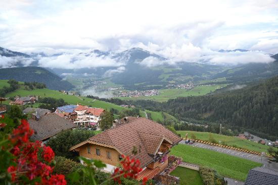 Hotel Kronplatz: view from the room balcony