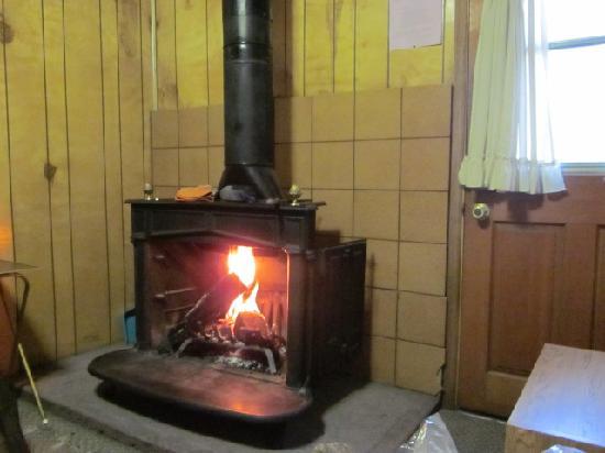 Manzanita Cabins: fireplace