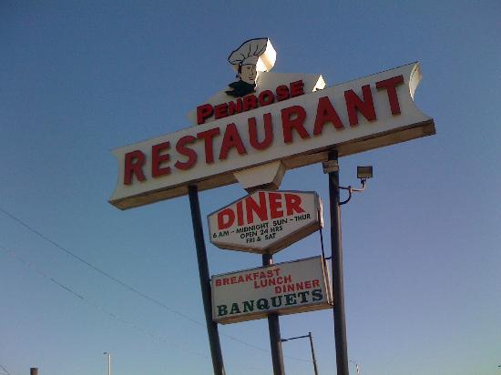 Penrose Diner: Penrose Sign