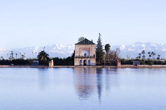Marrákes, Marokkó: Menara Gardens, Marrakech