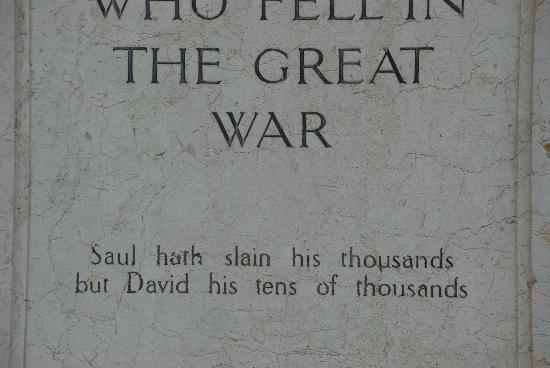 Boy David Memorial: Inscription on The Boy David Statue