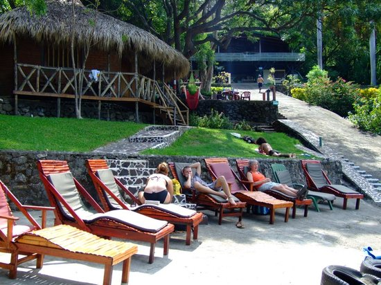 The Monkey Hut: Terraces at lake side