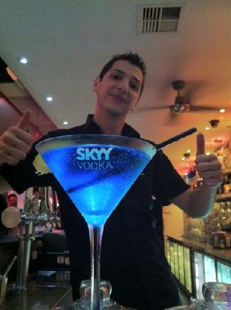 Bar 138 on Barrack: blue cocktail