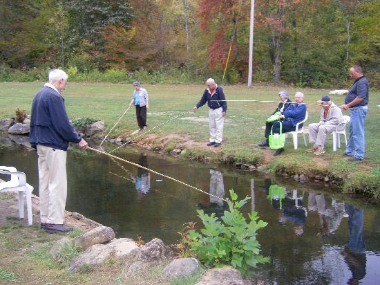 Group fishing everyone catches fish picture of andy 39 s for Trout farm fishing